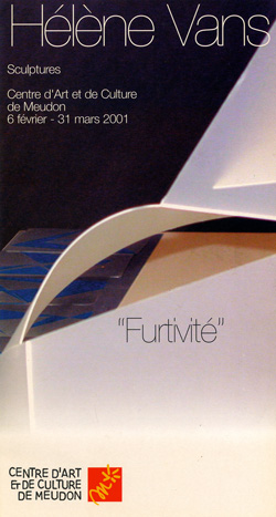 2001-02- Catalogue - Furtivité – exposition personnelle – centre d'art et de culture – Meudon-couv-250