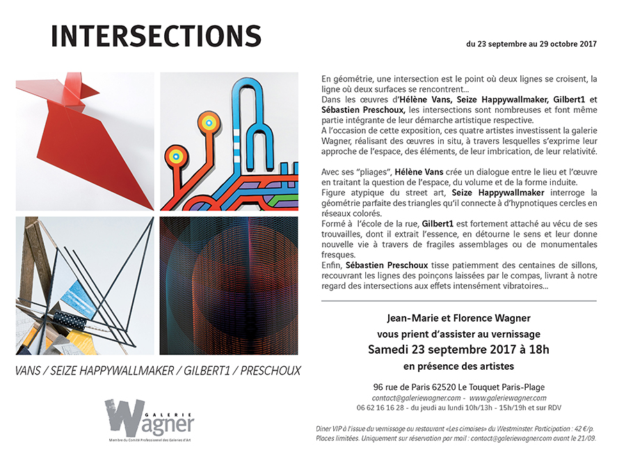 helene vans - Intersections-automne 2017-Le Touquet - Galerie Wagner-Invitation